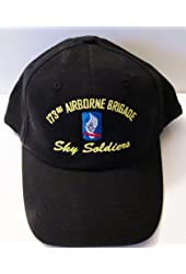 """173RD AIRBORNE BRIGADE """"SKY SOLDIERS"""" EMBROIDERED BLACK EMBLEM Ball Cap/ Hat"""