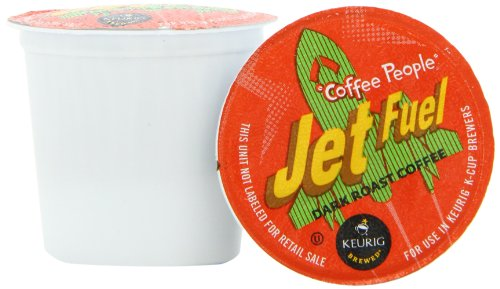 Coffee People Jet Fuel Dark Roast K-Cup Portion Pack for Keurig Brewers (Pack of 50)