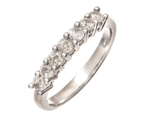 Eternity Ring, 9ct White Gold Diamond Ring, Claw