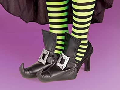 Womens STD (up to sz 9)- Funky Witch Shoe Covers