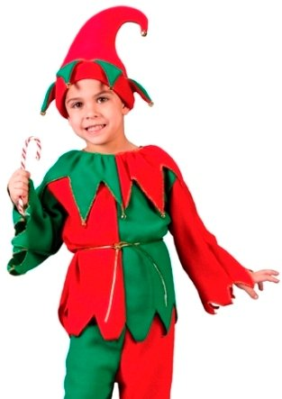 Fun World Santa's Helper XMAS Elf Outfit Kids