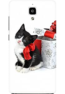 AMEZ designer printed 3d premium high quality back case cover for Xiaomi Mi4 (Christmas Cat 2)