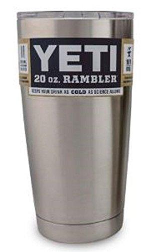 Yeti 20 oz RAMBLER TUMBLER w/ lid Silver - YRAM30 Stainless Steel NEW
