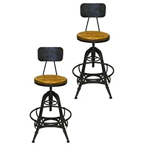 Counter Height Stools Amazon : Amazon.com - Bruce Adjustable Height Bar Stool -