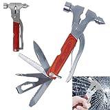 16 in 1 Multi-function Metal Car Safety Hammer Lifesaving Breack Window Mini Tool