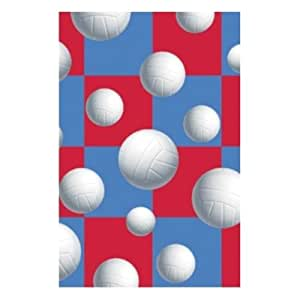Party Supply Volleyball Plastic Tablecover