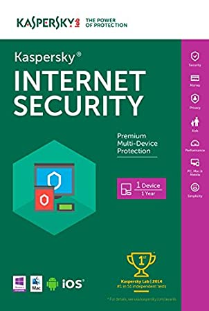 Kaspersky Internet Security 2016 | 1 Device |  1 Year | Download