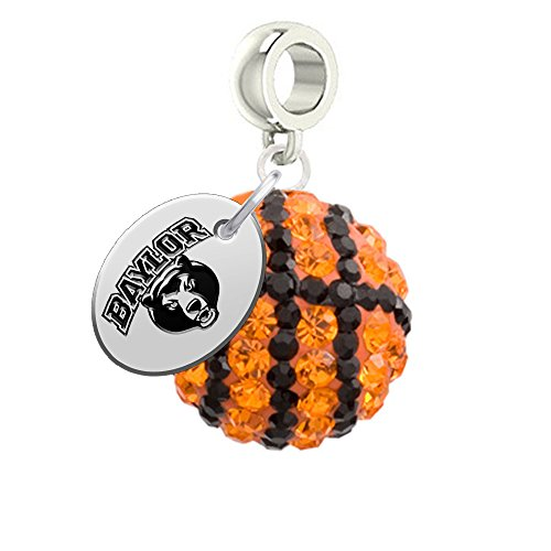 Baylor Bears Basketball Drop Charm Fits All European Style Bracelets