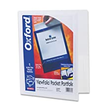 Oxford ViewFolio Twin Pocket Folder, Letter Size, White, Qty of 1 ,( 5744)