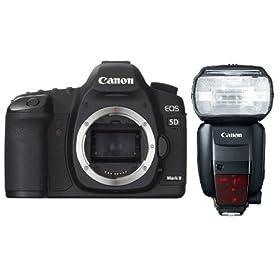 5D 600EX Saver Bundle, Canon EOS 5D Mark II 21.1MP Body + Canon Speedlite 600EX-RT Flash