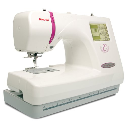6. Janome Memory Craft Embroidery Machine MC350E