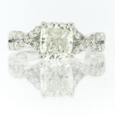 2.12ct Cushion Cut Diamond Engagement Anniversary 