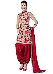 Look Smart Women's Unstitched Dress Material (ROSE CHIKU_Multi_Free Size)