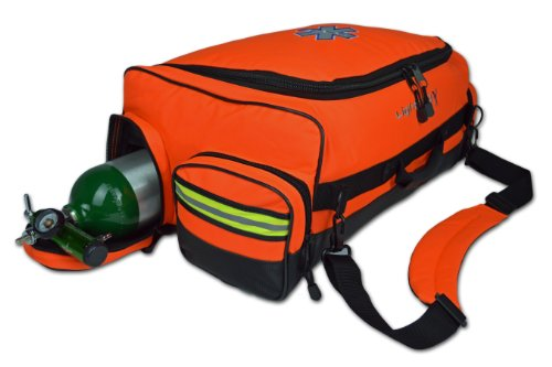 SALE! Lightning X Modular X-Tuff Oxygen Trauma Bag w/Zip-Out Cylinder Pocket & Removable Pouches - Florescent Orange