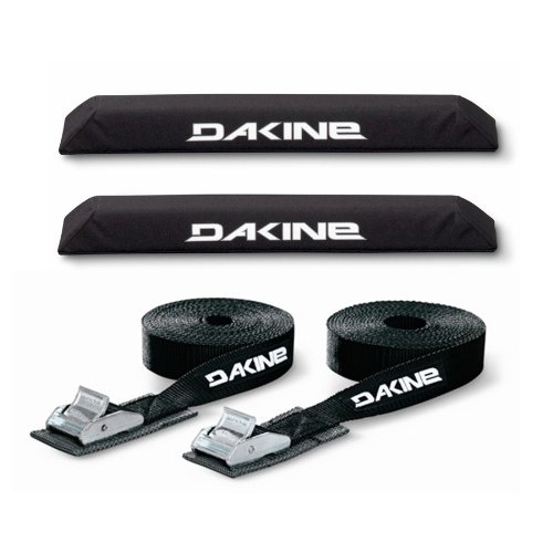 Kayak Roof Car SUV Rack Pad Set with 12 Dakine Tie Down Straps SUP Dakine 18 Aero Bar Black Surfboard