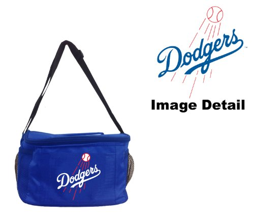 Los Angeles Dodgers Mlb Team Logo 6-Sports Drink Beer Water Soda Beverage Can Insulated Picnic Outdoor Party Beach Bbq Kooler Cooler Lunch Bag Tote - 6-Pack Bag front-28519