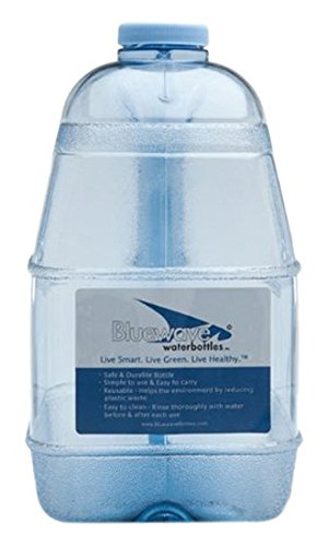 Bluewave Lifestyle Square BPA Free Water Bottle with 48mm Cap, 1 gallon (Bpa Free Water Jug 1 Gallon compare prices)