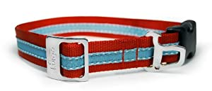 Kurgo Wander Dog Collar, Small, Red