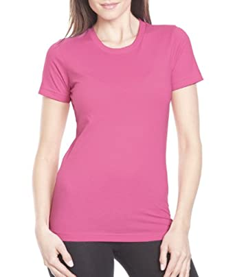 Next Level Women's Stylish Crewneck T-Shirt, Hot Pink, X-Small