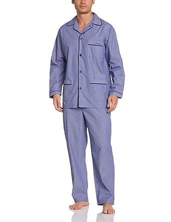 Mariner - pyjama long chaîne et trame - coton - homme - marine - 4