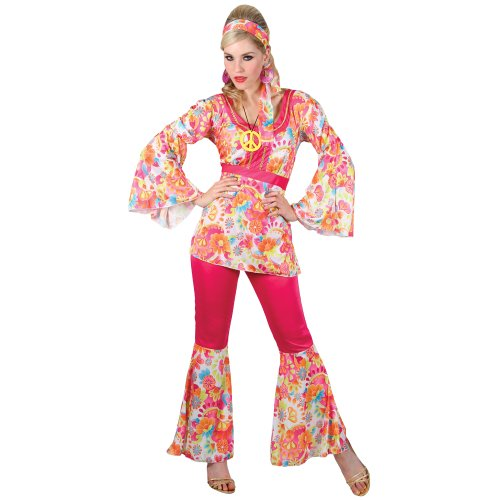 HIPPIE HONEY LADIES COSTUME FANCY DRESS UP PARTY (Hippie Dress Up)