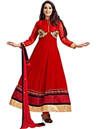 Zohraa Sonali Bendre Suits-Red Faux Georgette Anarkali Suit VivaSonali31029