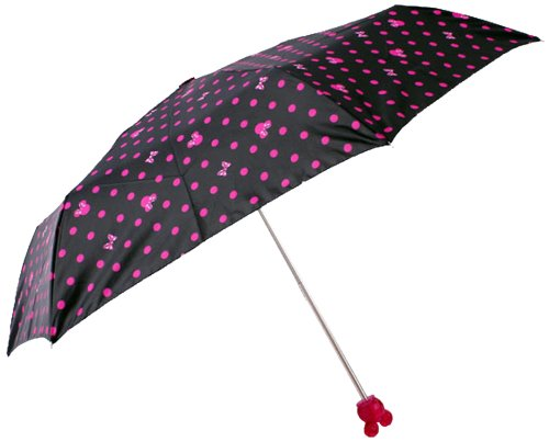 Minnie face umbrella folding umbrella 11MI-UF-1 BK Black 18337...