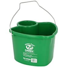 San Jamar KP550 Kleen Pail Caddy, Green