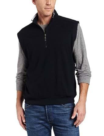 Callaway Men's 1/4 Zip Performance Vest,Anthracite,Large