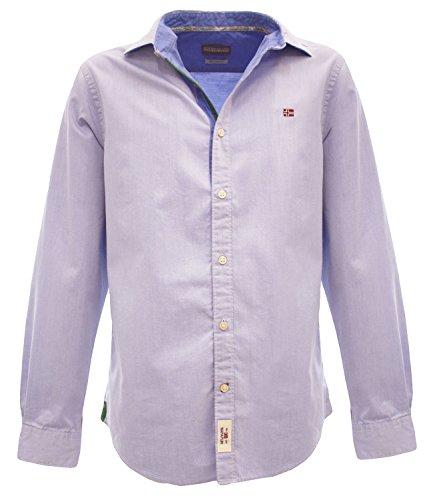 GREYTONAZZURRO Camicia da uomo a manica lunga colore azzurro Azzurro M