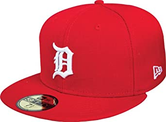 MLB Detroit Tigers Basic 59Fifty Fitted Cap, Scarlet, 7