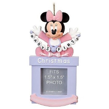 Disney Baby Girls First Minnie Mouse Photo Frame Ornament - 1