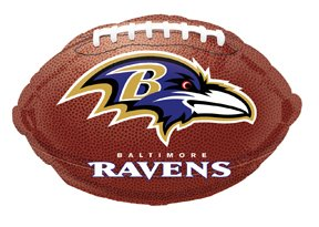 "Anagram International Baltimore Ravens Flat Party Balloons, 18"", Multicolor"