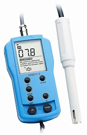 Hanna Instruments HI 9811-5N pH Waterproof Meter with a Water-Resistant, 6000 microSiemens/cm Conductivity and Temperature