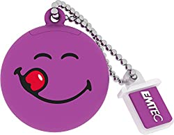 Emtec ECMMD8GSW101 Pendrive Smiley'S World Yum Yum,(Purple)