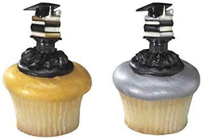 Stacked Books Cupcake Picks 12 Pack
