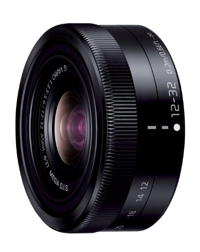 Panasonic Micro Four Thirds interchangeable lens LUMIX G VARIO 12-32mm / F3.5-5.6 ASPH. / MEGA OIS H-FS12032 Black - International Version (No Warranty) (Panasonic Lumix Lens compare prices)