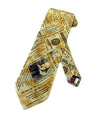 Museum Artifacts Mens William Shakespeare Plays Necktie Beige Neck Tie Neckwear