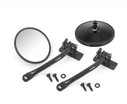 Rugged Ridge 11025.10 Black Quick Release Mirror Relocation Kit