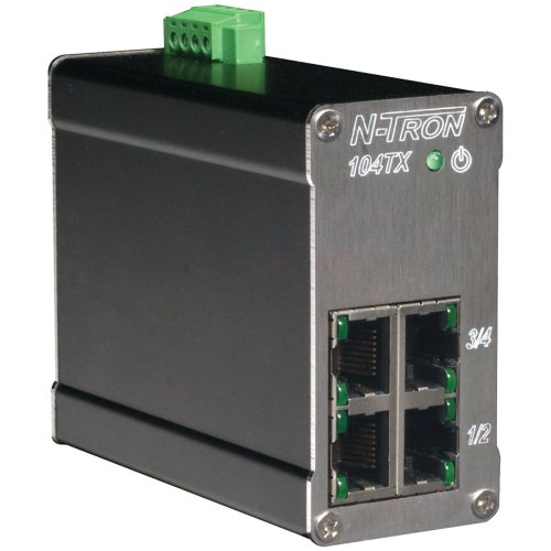 Red Lion N-TRON 104TX 10/100BaseTX Industrial Ethernet Switch with 4 Ports General General