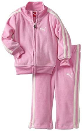 Amazon.com: PUMA Kids Baby Girls' Promo Velour Track Suit, Lilac