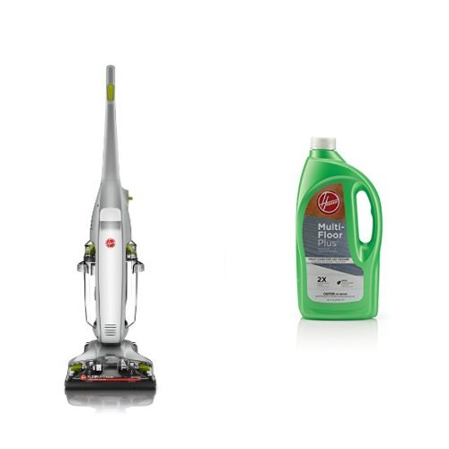 Hoover FloorMate Deluxe Hard Floor Cleaner, FH40160PC - Corded and Hoover Multi-FLOORPLUS 2X Concentrated 32 Oz Hard Floor Cleaner Solution - AH30425 Bundle (Hoover Deluxe Floormate compare prices)