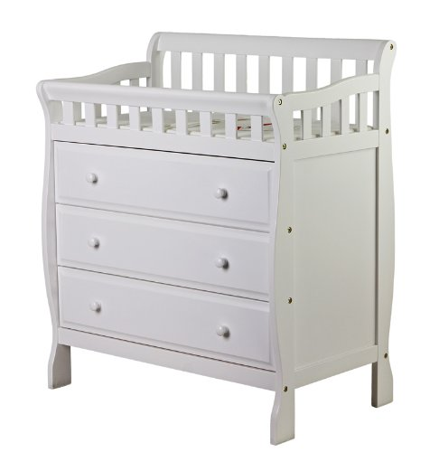 Dream On Me Marcus Changing Table, White, Small front-959955