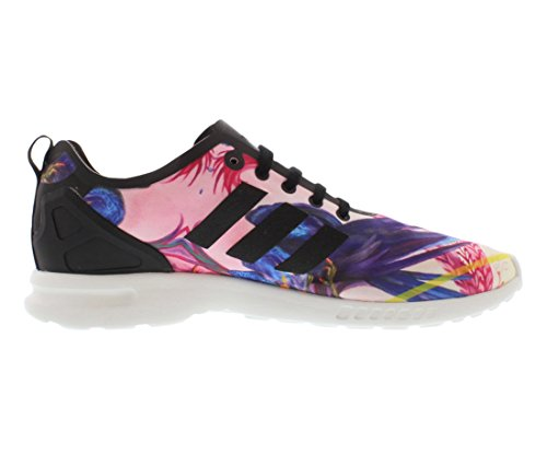 Adidas Zx Flux Smooth Women's Running Shoes Size US 7.5, Regular Width, Color Black/Purple/Pink/White
