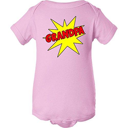 Inktastic Unisex Baby Grandpa Infant Creeper Newborn Pink front-649618