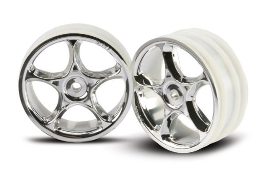 Traxxas 2473 Tracer Front Wheels, Chrome, Bandit, 2-Piece - 1