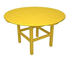 38 Recycled Venice Beach Outdoor Patio Kids Dining Table - Sunshine Yellow from Eco-Friendly Furnishings