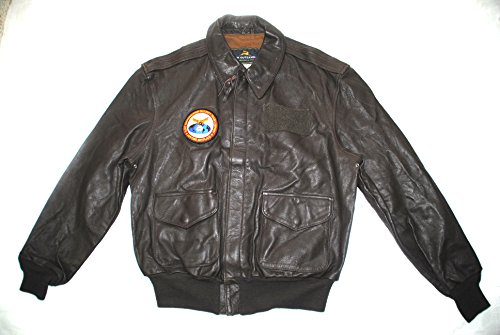 US Air Force ASAF Flyers Men`s Leather Bomber Type A-2 Flight Jacket - Size 42R