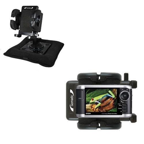 Car Bean Bag Dash & Windshield Holder for the Epson P-3000 Multimedia Photo Viewer - Gomadic Brand