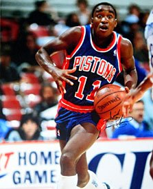 Isiah Thomas Autographed Signed Detroit Pistons 16x20 Photo by Hollywood Collectibles